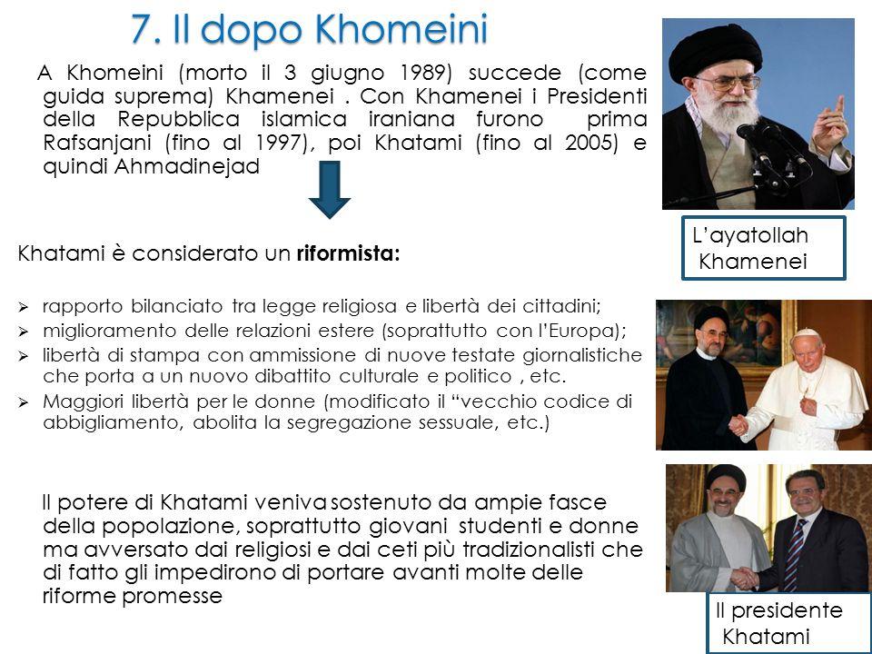 7. Il dopo Khomeini