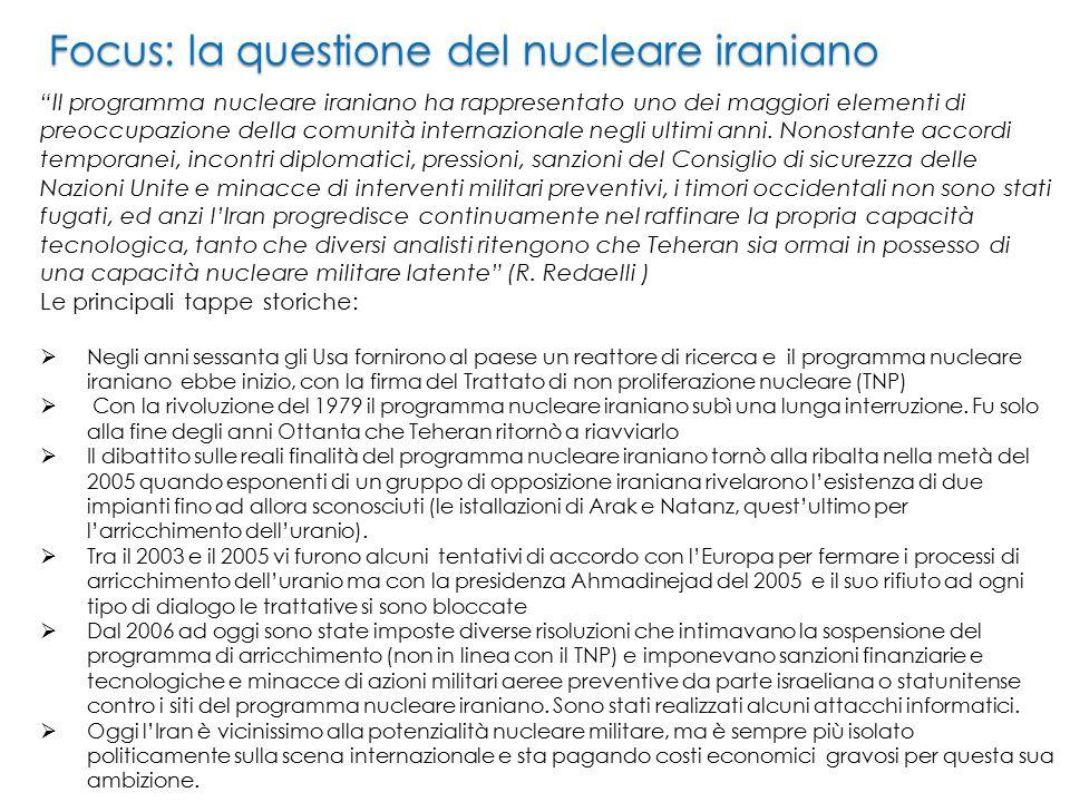 Focus: la questione del nucleare iraniano