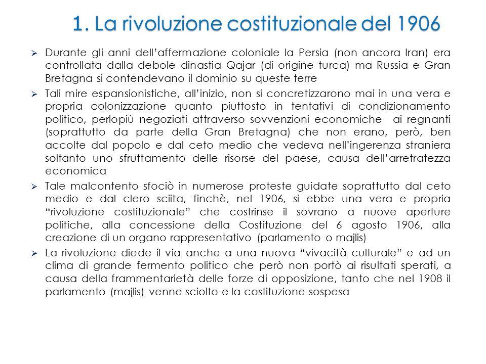 1. La rivoluzione costituzionale del 1906