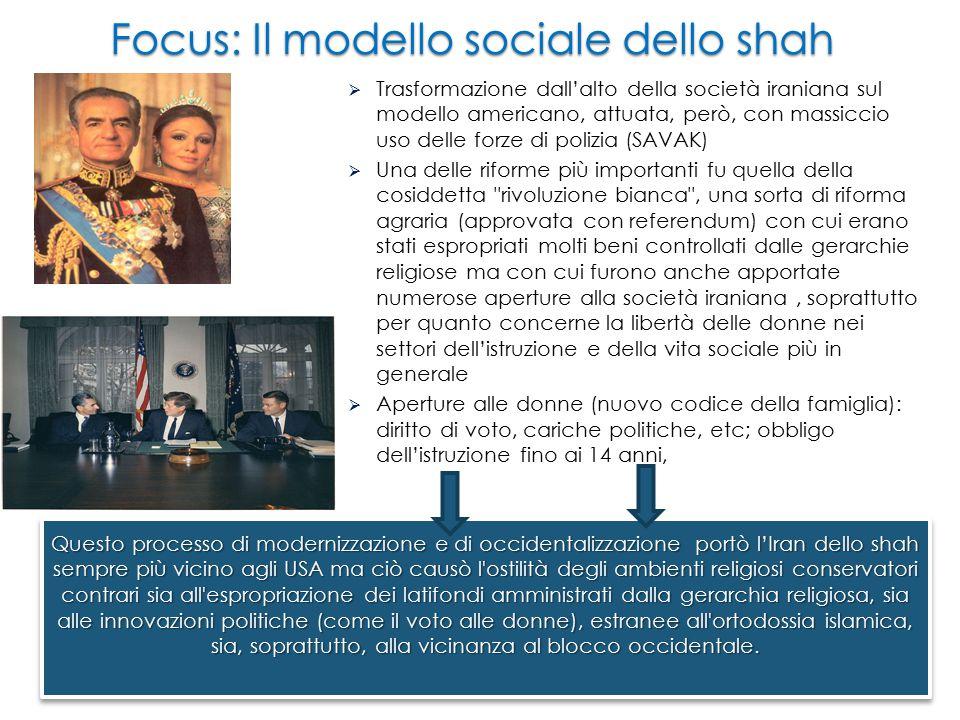 Focus: Il modello sociale dello shah