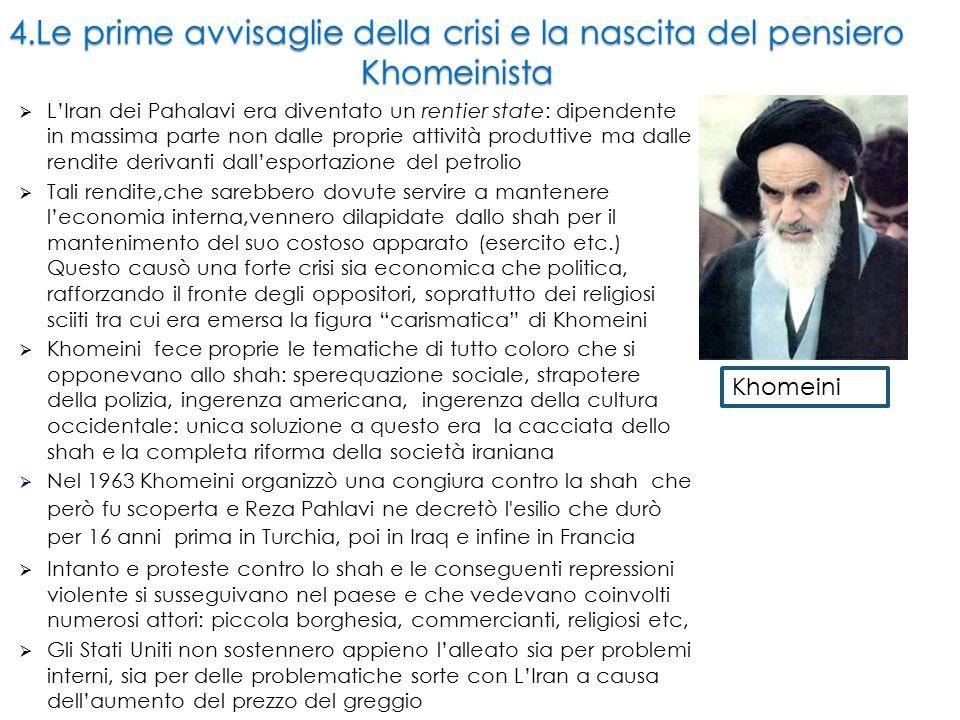 4.Le prime avvisaglie della crisi e la nascita del pensiero Khomeinista