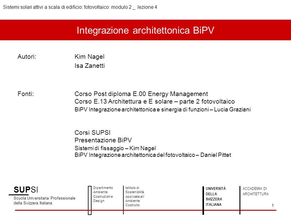 Integrazione architettonica BiPV