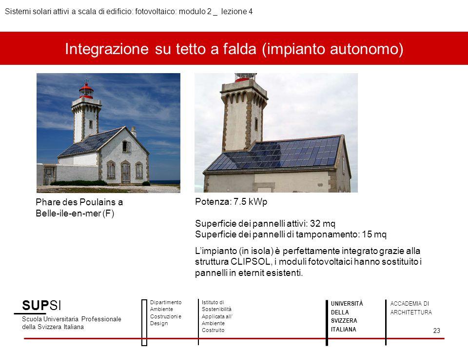 Integrazione su tetto a falda (impianto autonomo)