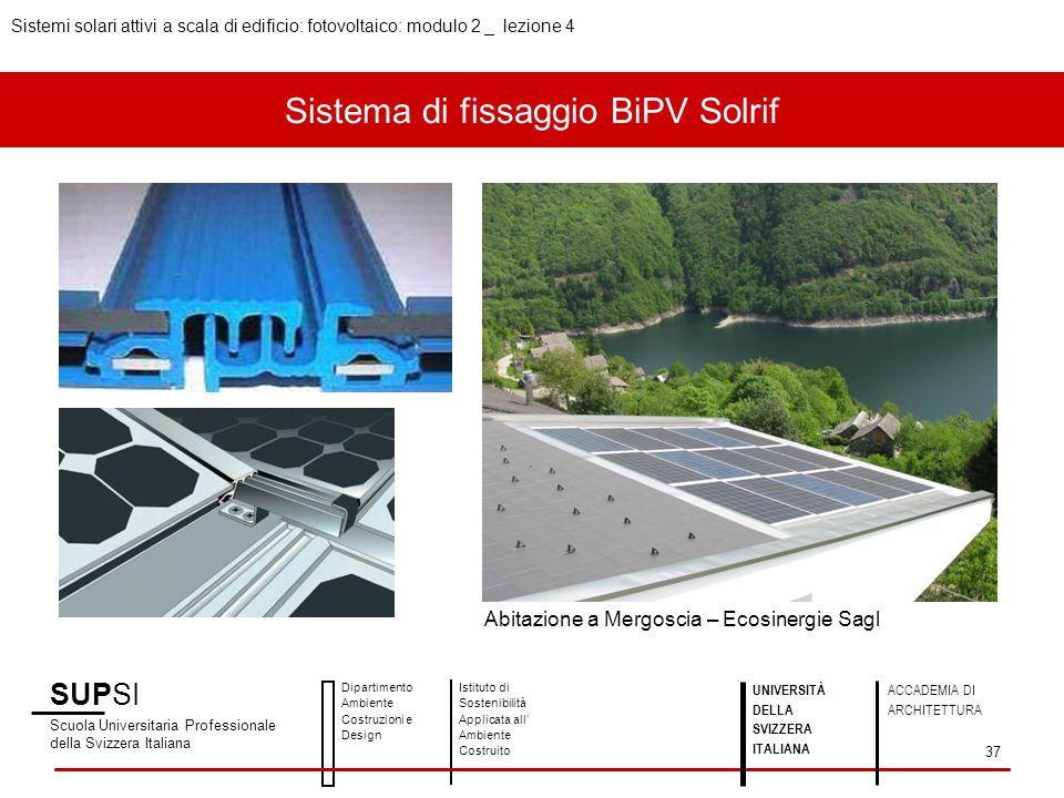 Sistema di fissaggio BiPV Solrif