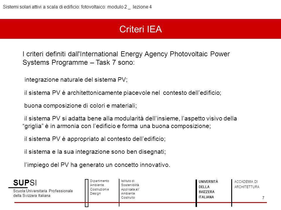 Sistemi solari attivi a scala di edificio: fotovoltaico: modulo 2 _ lezione 4