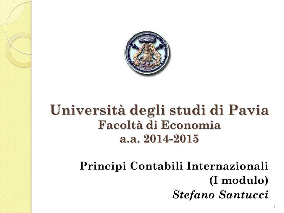 Università degli studi di Pavia Facoltà di Economia a.a. 2014-2015