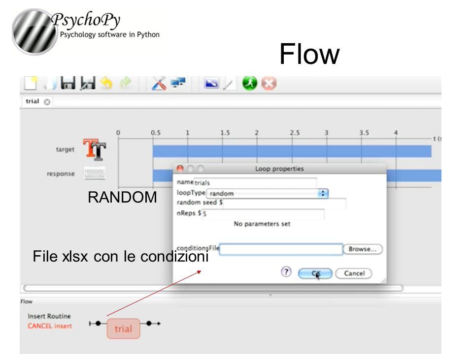 Flow RANDOM File xlsx con le condizioni