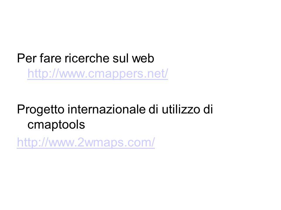 Per fare ricerche sul web http://www.cmappers.net/
