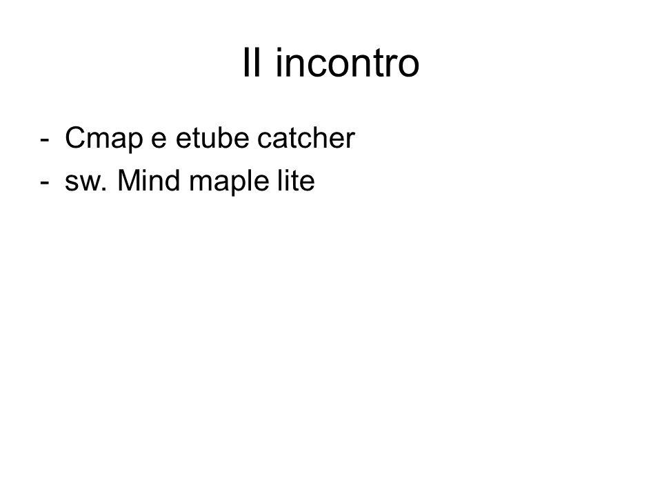 II incontro Cmap e etube catcher sw. Mind maple lite