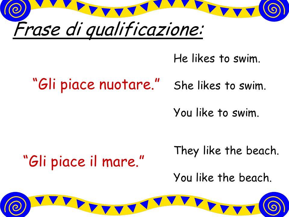 Frase di qualificazione: