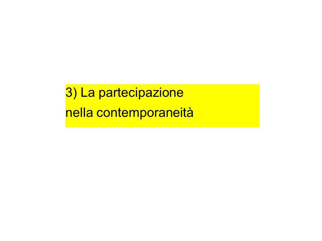 3) La partecipazione nella contemporaneità