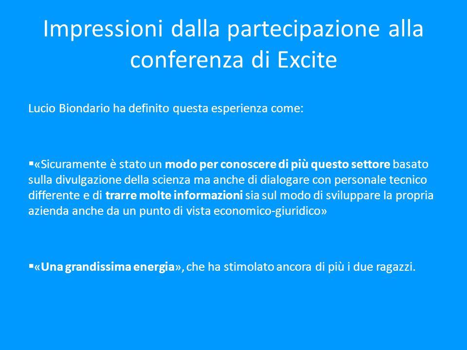 Impressioni dalla partecipazione alla conferenza di Excite