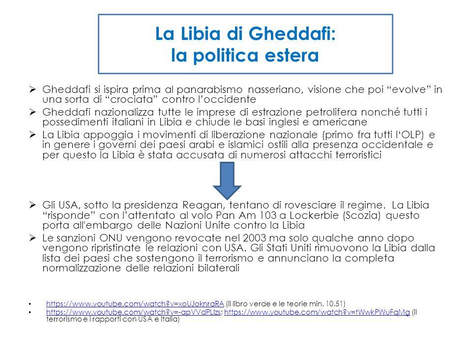 La Libia di Gheddafi: la politica estera