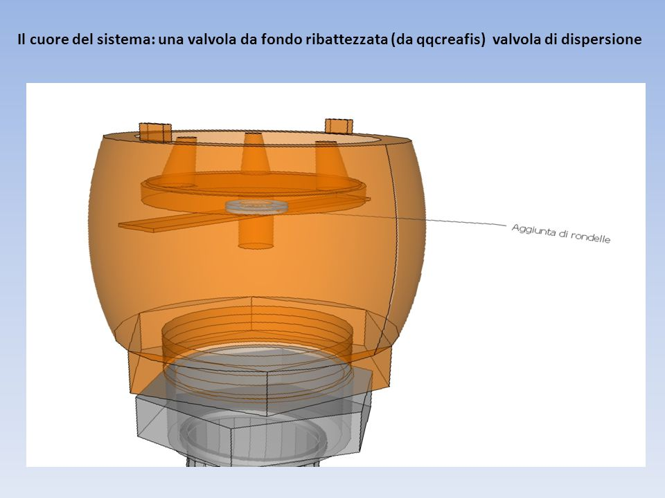 Il cuore del sistema: una valvola da fondo ribattezzata (da qqcreafis) valvola di dispersione