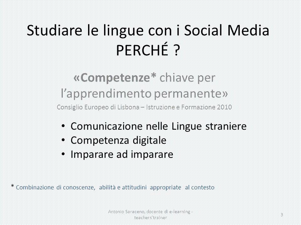 Studiare le lingue con i Social Media PERCHÉ