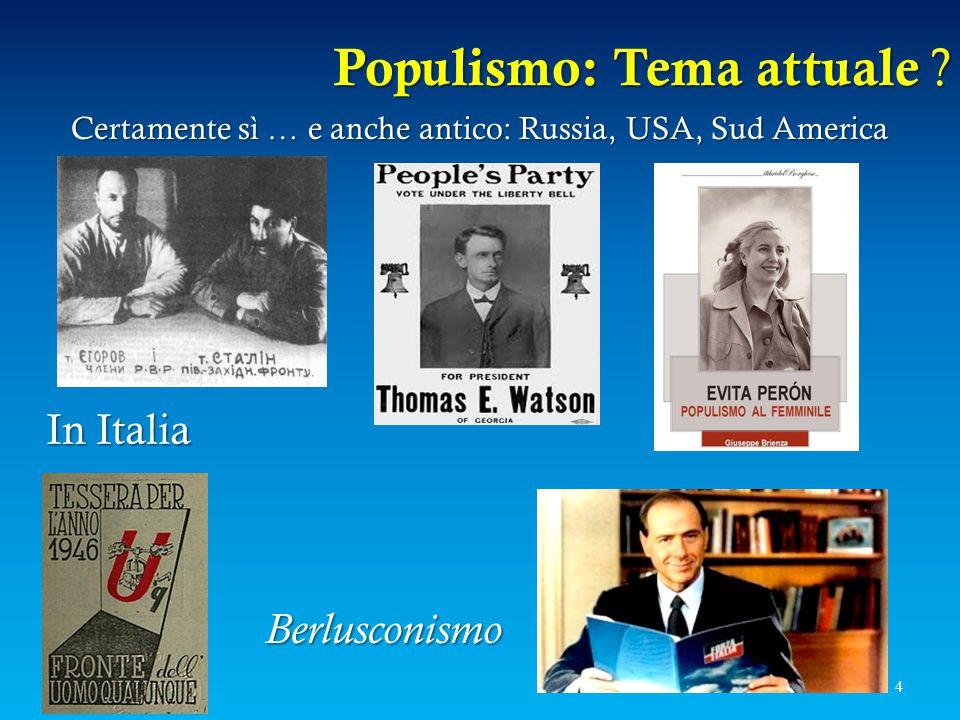 Populismo: Tema attuale