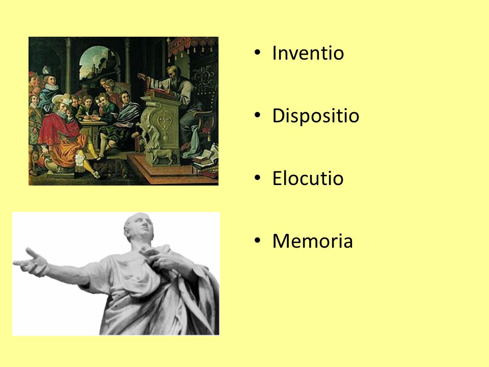 Inventio Dispositio Elocutio Memoria