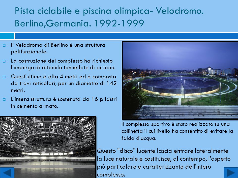 Pista ciclabile e piscina olimpica- Velodromo. Berlino,Germania
