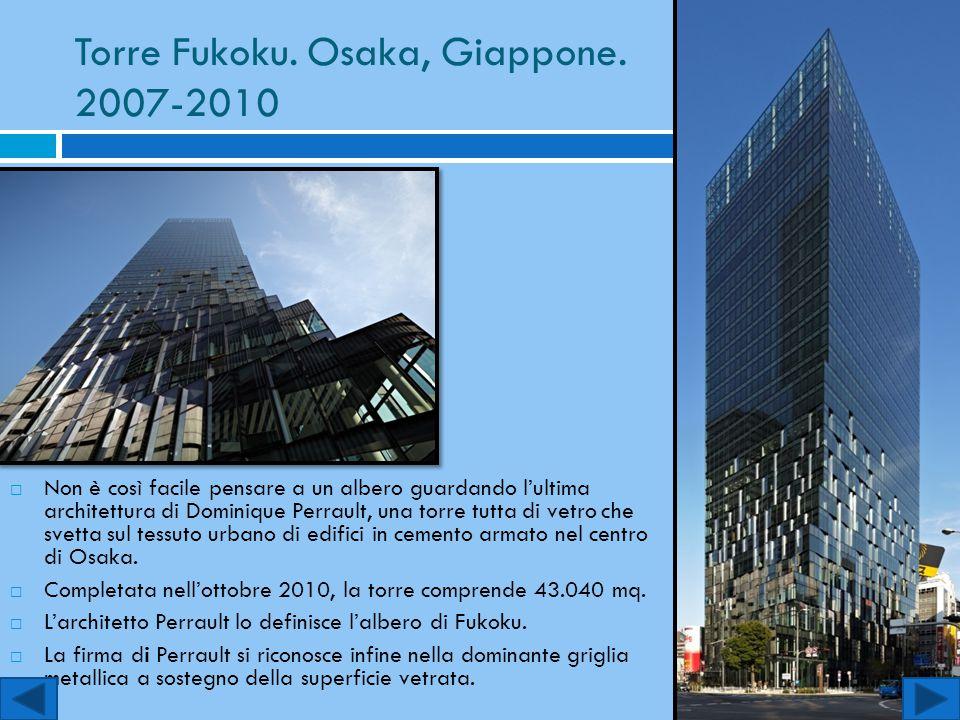 Torre Fukoku. Osaka, Giappone. 2007-2010