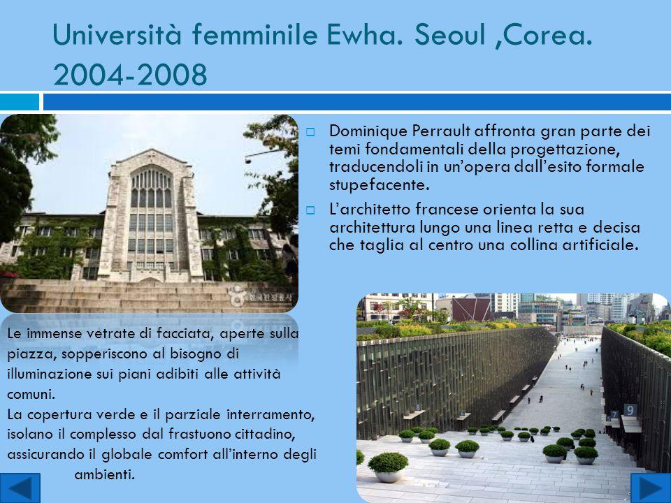 Università femminile Ewha. Seoul ,Corea. 2004-2008