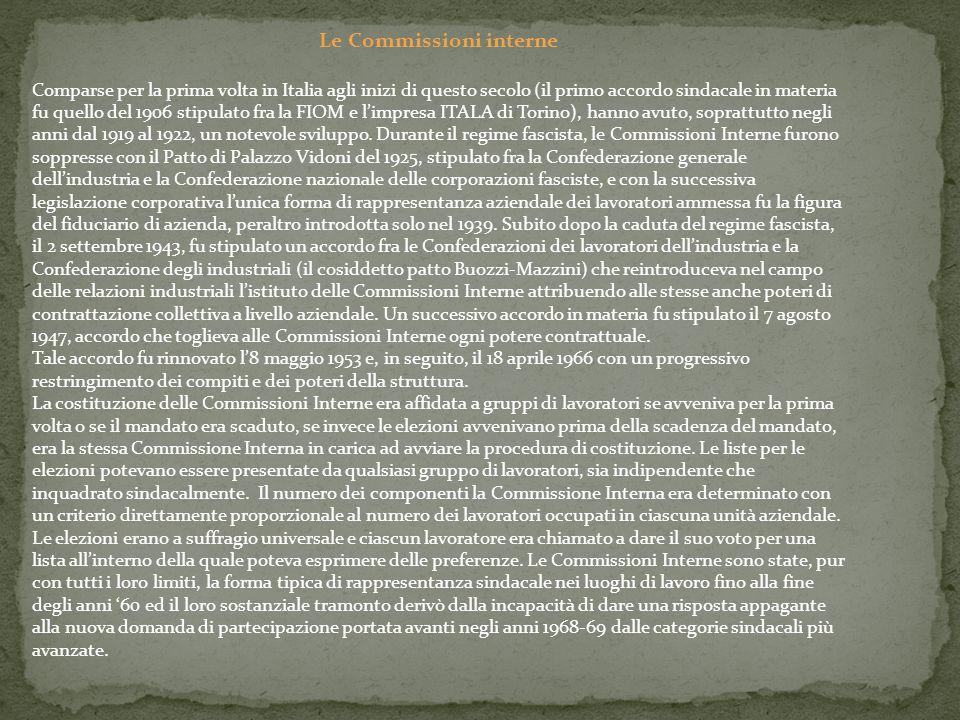 Le Commissioni interne