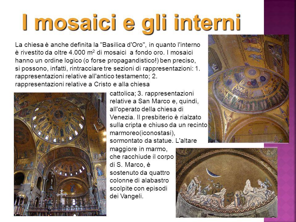 I mosaici e gli interni