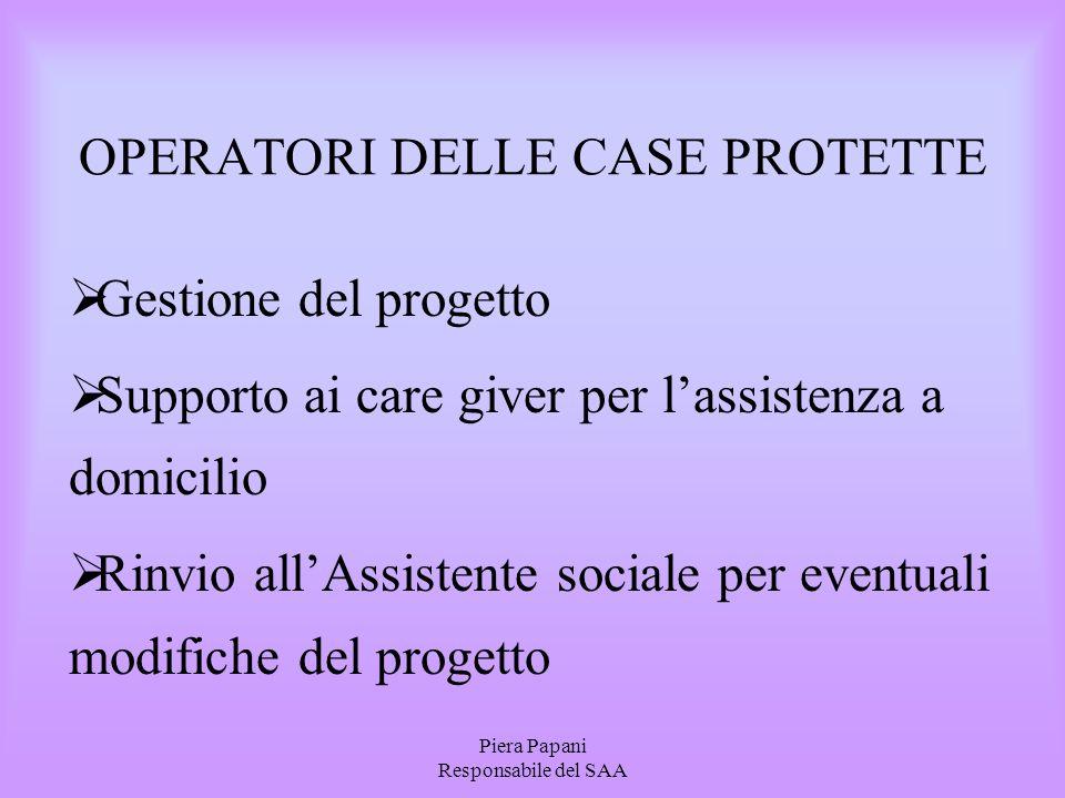 OPERATORI DELLE CASE PROTETTE