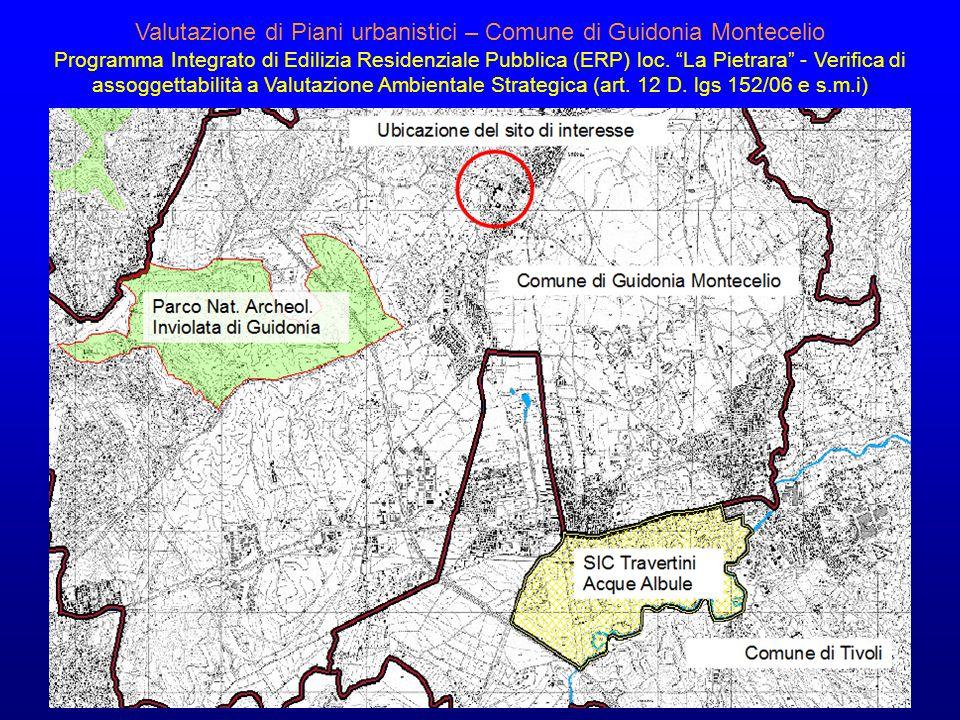 Valutazione di Piani urbanistici – Comune di Guidonia Montecelio