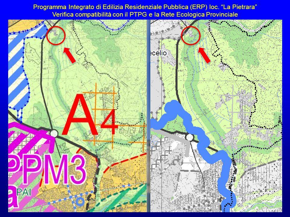 Verifica compatibilità con il PTPG e la Rete Ecologica Provinciale