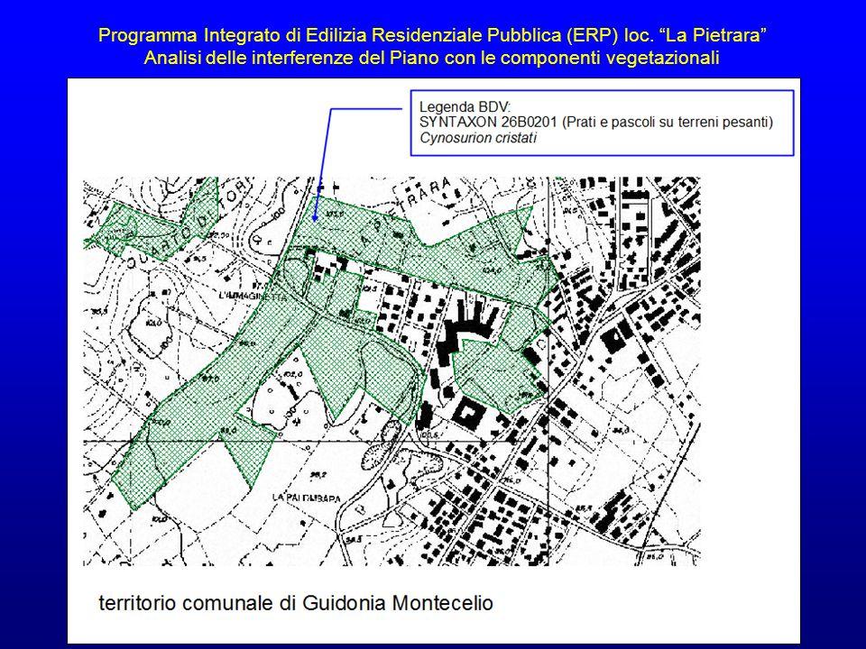 Analisi delle interferenze del Piano con le componenti vegetazionali