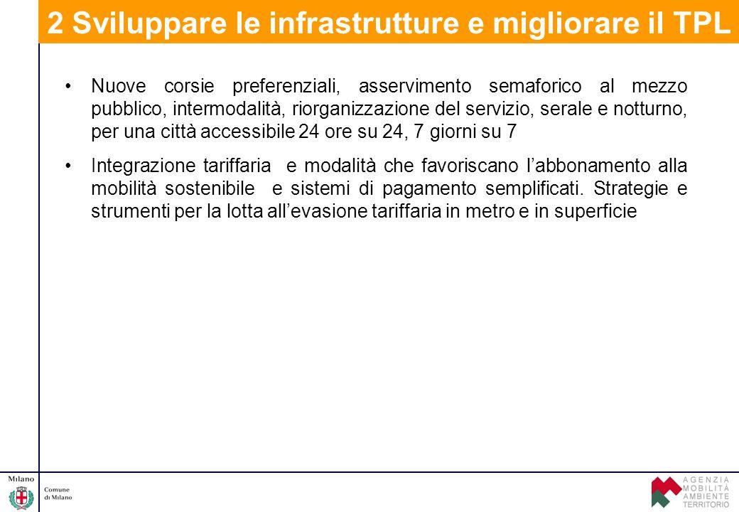 2 Sviluppare le infrastrutture e migliorare il TPL