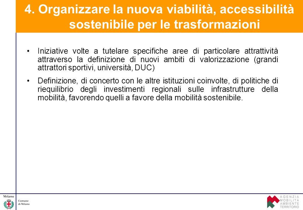 4. Organizzare la nuova viabilità, accessibilità sostenibile per le trasformazioni
