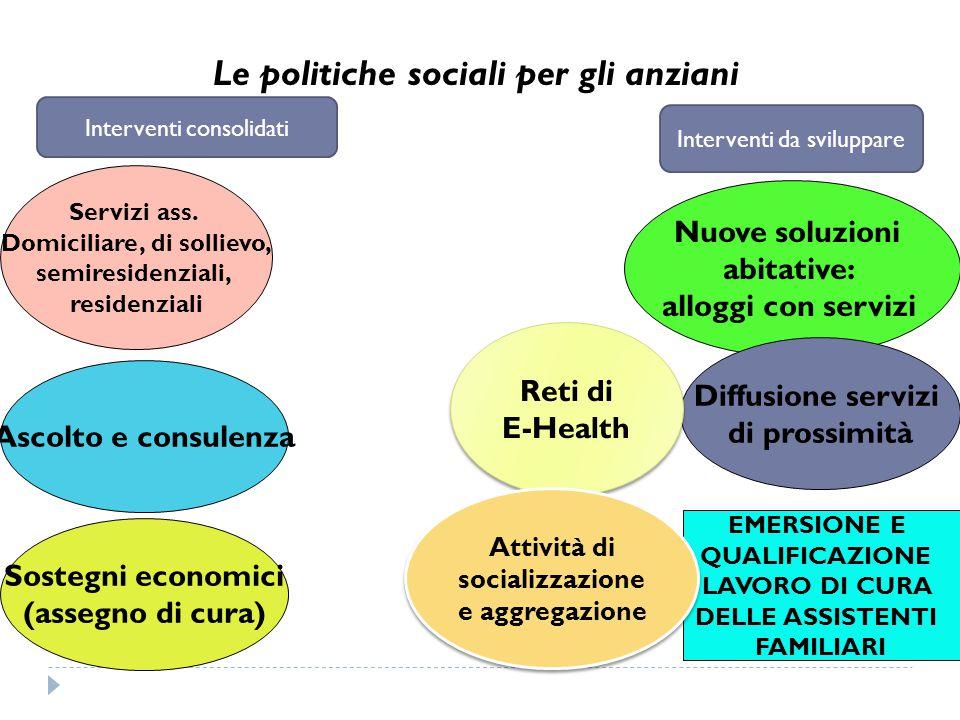 Le politiche sociali per gli anziani