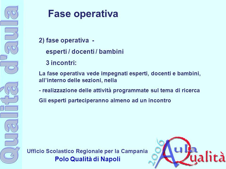 Fase operativa 2) fase operativa - esperti / docenti / bambini
