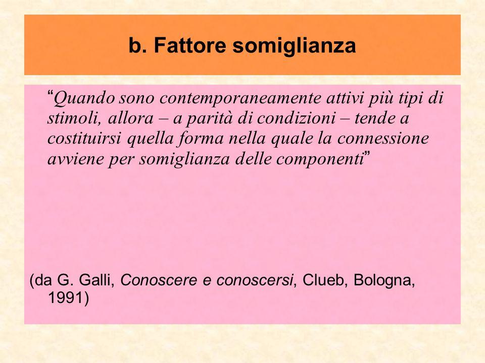 b. Fattore somiglianza