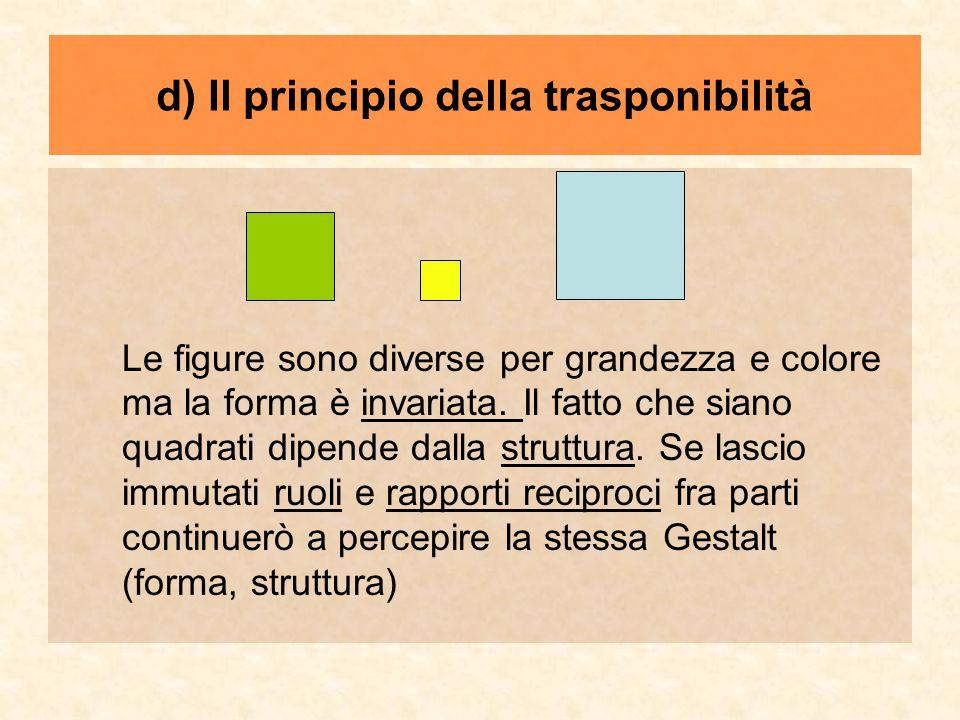 d) Il principio della trasponibilità