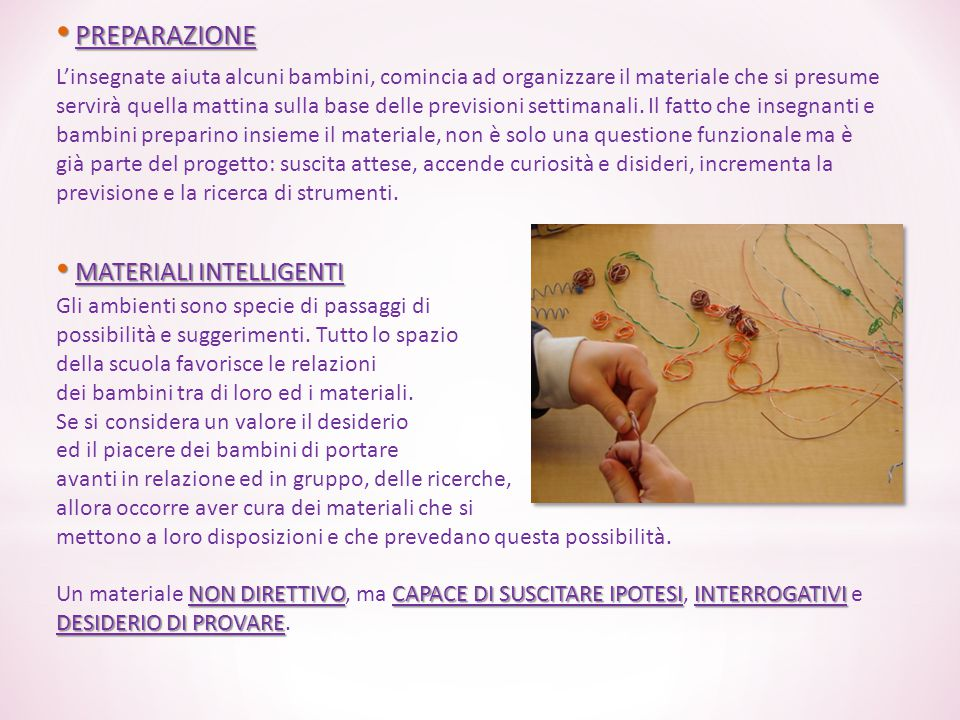 PREPARAZIONE MATERIALI INTELLIGENTI