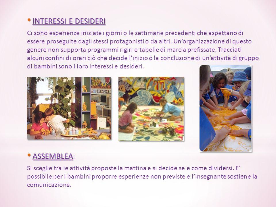 INTERESSI E DESIDERI ASSEMBLEA: