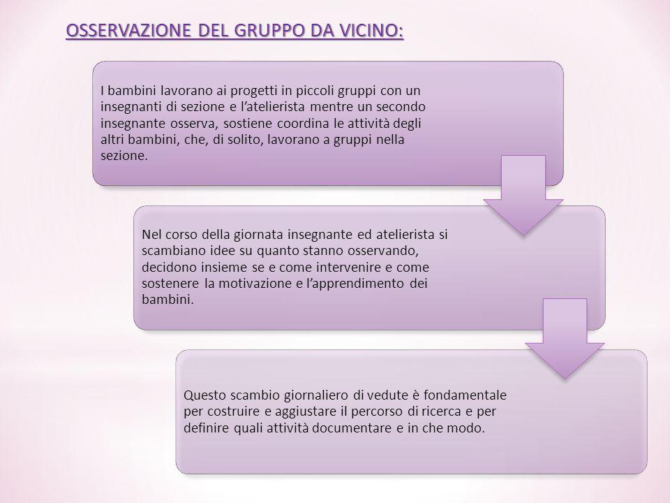 OSSERVAZIONE DEL GRUPPO DA VICINO: