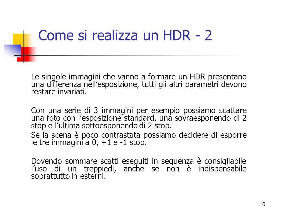 Come si realizza un HDR - 2