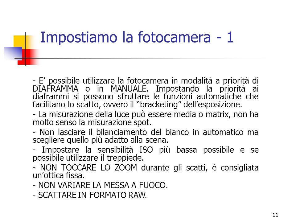 Impostiamo la fotocamera - 1