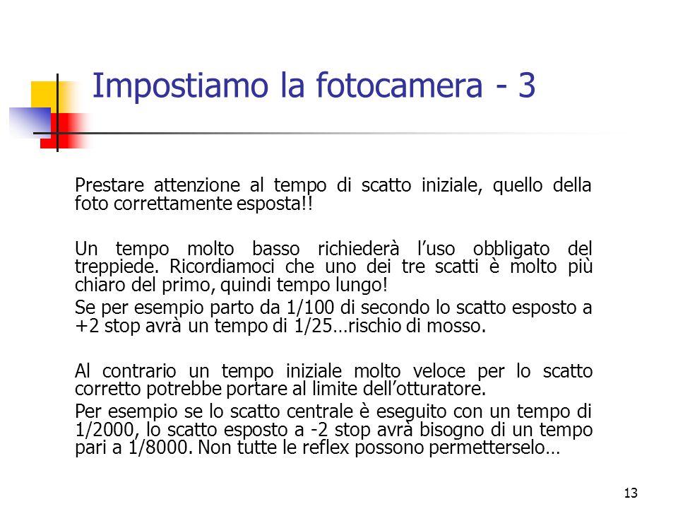 Impostiamo la fotocamera - 3