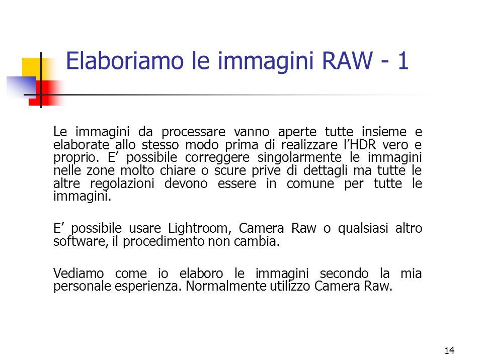 Elaboriamo le immagini RAW - 1