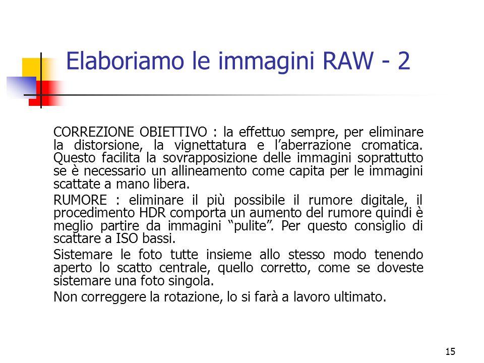 Elaboriamo le immagini RAW - 2