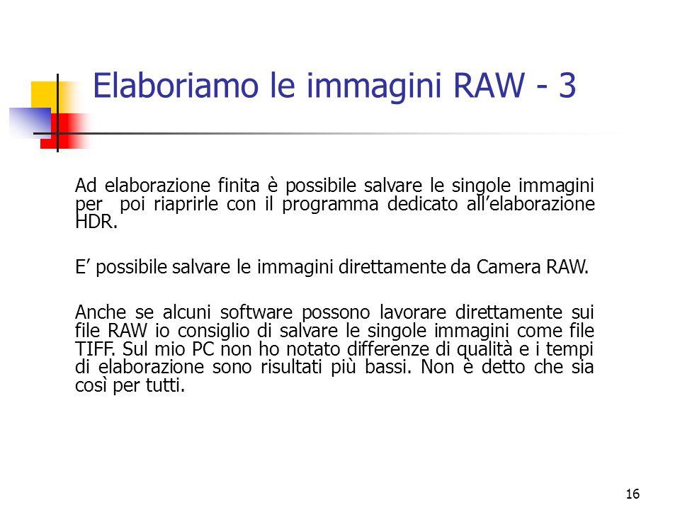 Elaboriamo le immagini RAW - 3