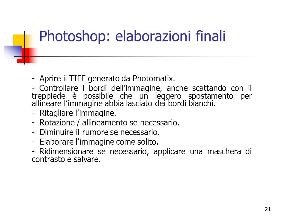 Photoshop: elaborazioni finali