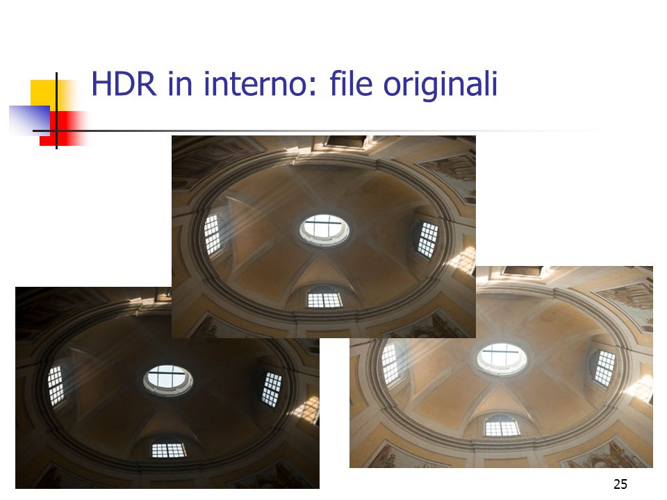 HDR in interno: file originali