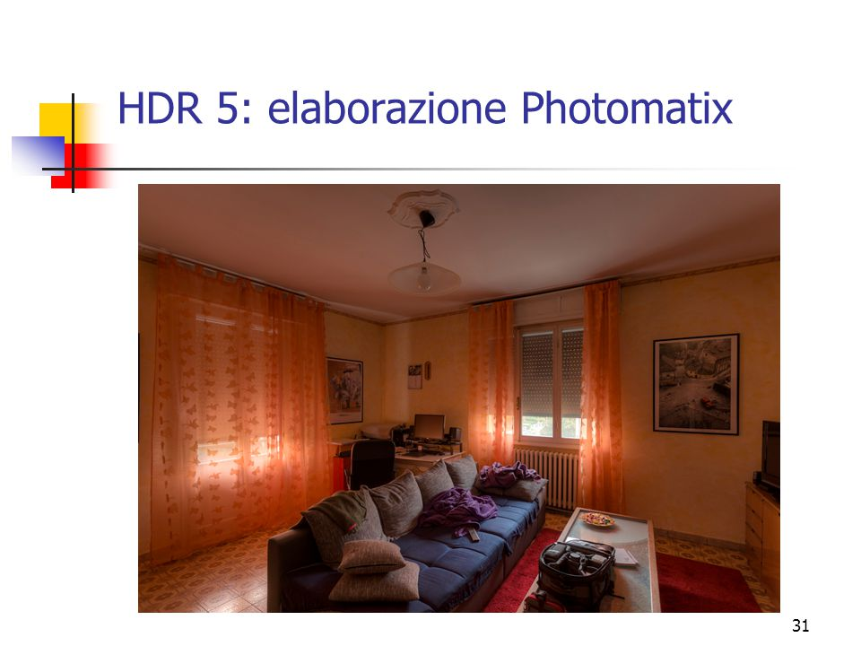 HDR 5: elaborazione Photomatix
