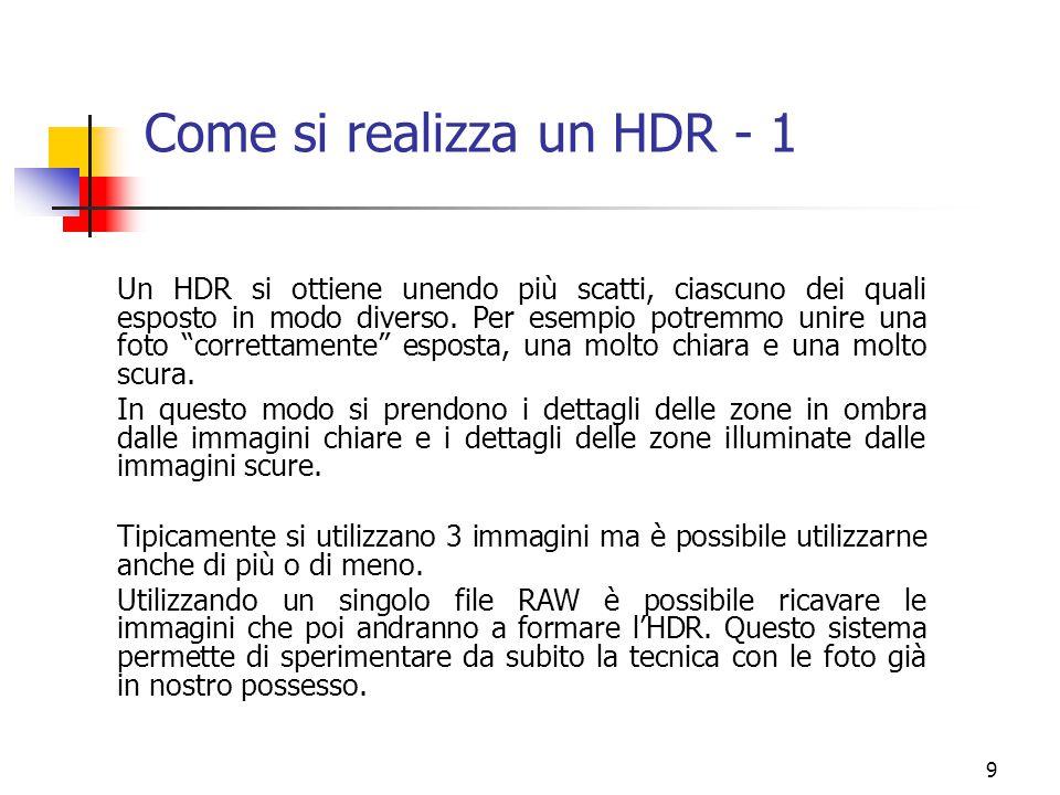 Come si realizza un HDR - 1