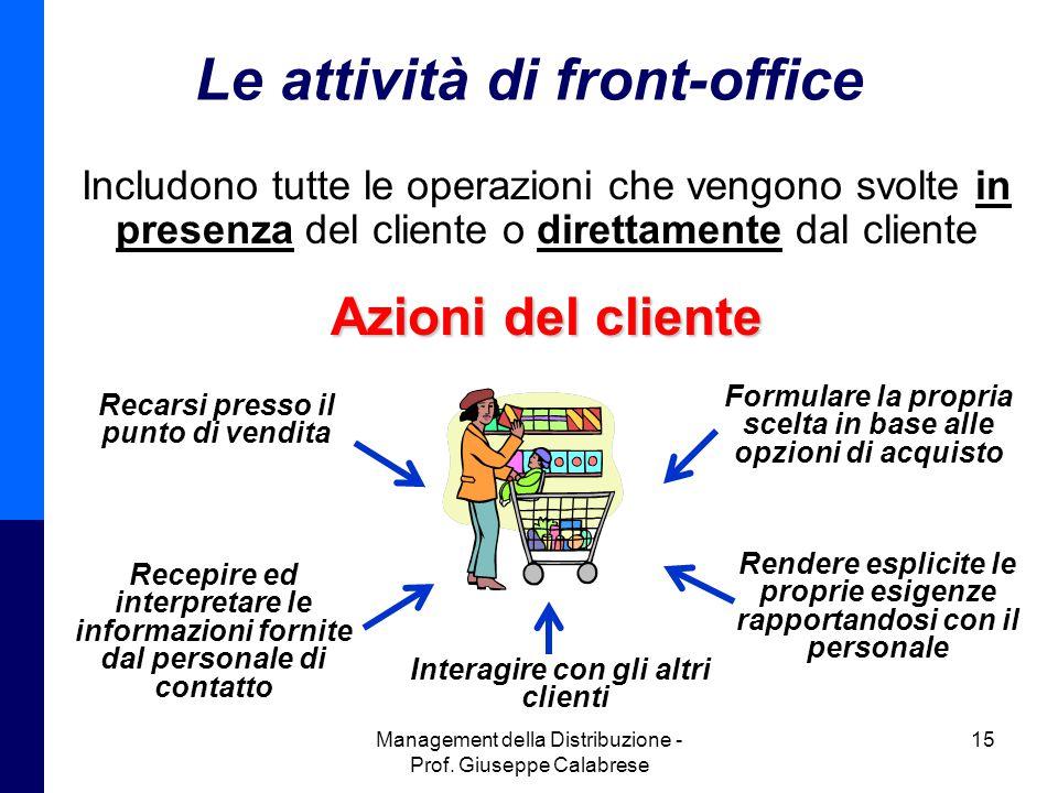 Le attività di front-office